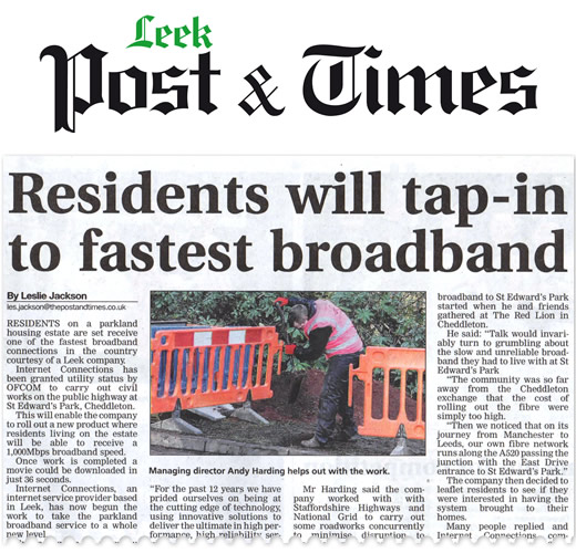 Work has begun on the ultrafast phase of our rural broadband project